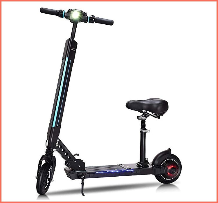 goplus electric scooter with seat for adults