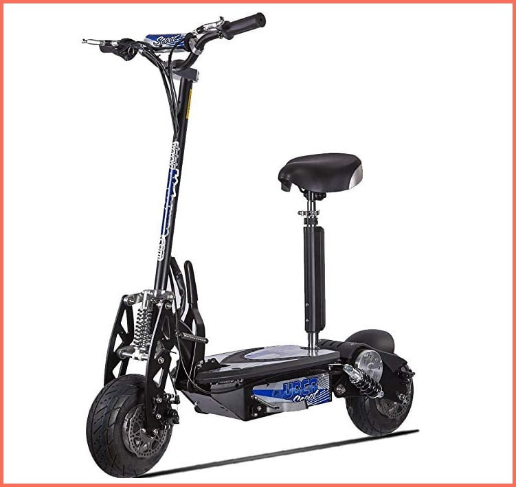 uberscoot electric scooter with seat for adults