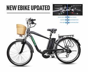 "NAKTO 26"" 250W Cargo Electric bike under 1000"