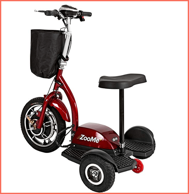 drive medical zoom 3 wheel electric scooter