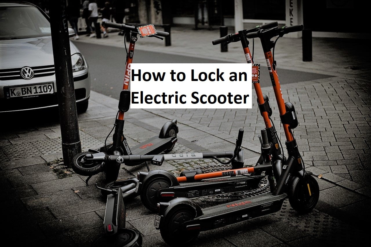 How to lock an electric scooter