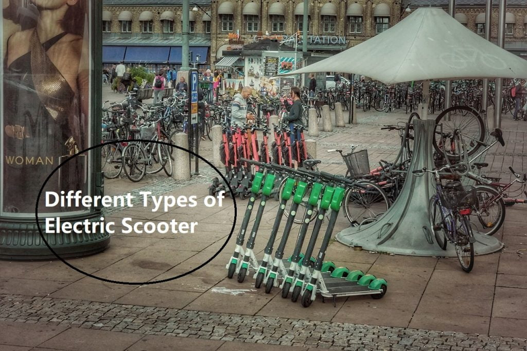 Different types of electric scooter